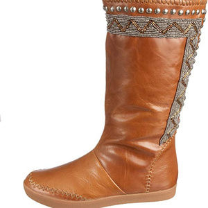 HOUSE OF HARLOW 1960 WILLA BOOTS LEATHER BEAD EU36